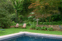 "In large gardens, you can create ""rooms"" to divide larger areas into intimate spaces."