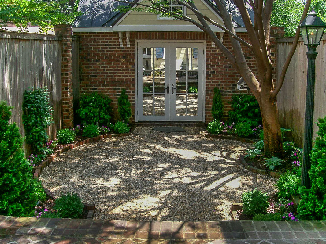 We maintain gravel paths and patio areas
