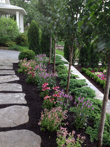 We used sun loving perennials in the blue/purple/pink color palette. : Suburban Gardens : CITYSCAPES® Landscaping Inc.